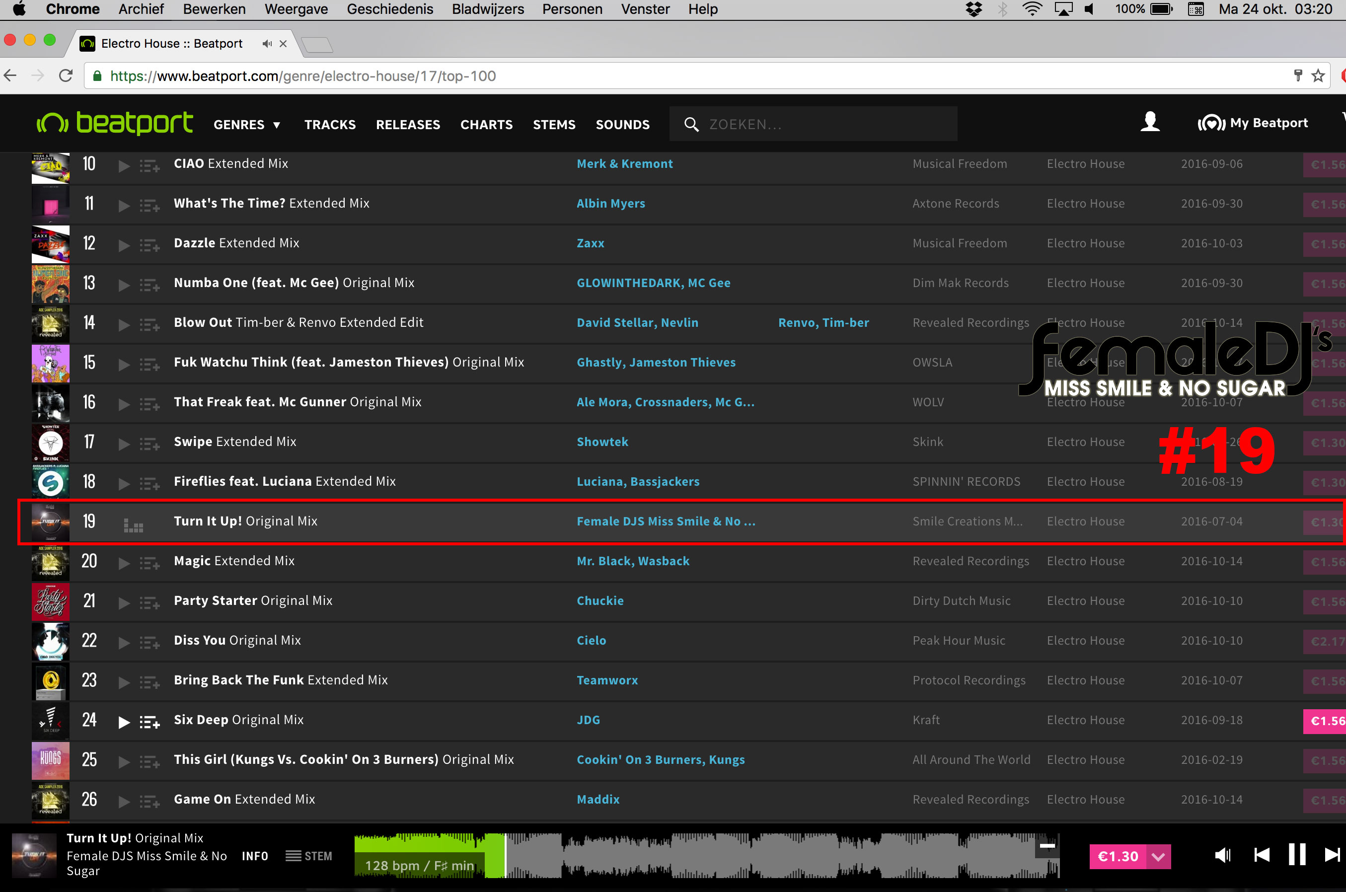 Female djs in beatport top 100 19 smile creations for Top 20 house music